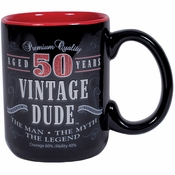 Vintage Dude 50th Birthday Coffee Mugs 2 ct