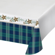 Holiday Tartan Plastic Tablecloths 12 ct
