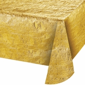 Gold Metallic Tablecloths sold in quantities of  1 / pkg, 12 pkgs / case