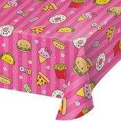 Food Love Plastic Tablecloths 6 ct
