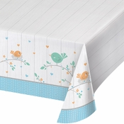 Hello Baby Boy Plastic Tablecloths 6 ct