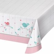Hello Baby Girl Plastic Tablecloths 6 ct