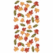 Leaves Banquet Tablecover Roll 2 ct