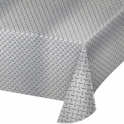 Diamond Plate Plastic Tablecloths 6 ct