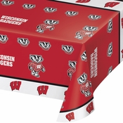 University of Wisconsin Plastic Tablecloths 12 ct