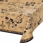 Treasure Island Pirate Plastic Tablecloths 6 ct