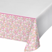 Farmhouse 1st Birthday Girl Plastic Tablecloths 6 ct