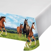 Wild Horse Plastic Tablecloths 6 ct