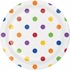 Multicolor Polka Dots and Stripes Dessert Plates 96 ct