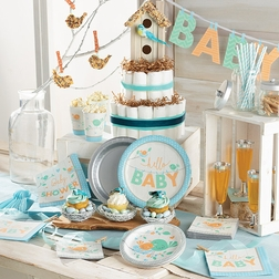 Hello Baby Boy Baby Shower Supplies