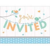 Hello Baby Boy Invitations 48 ct