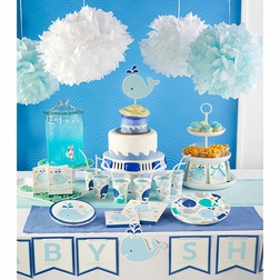 Blue Baby Whale Baby Shower Supplies