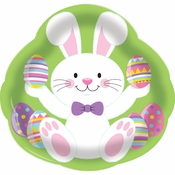 Easter Bunny Plastic Trays 12 ct