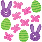Easter Cutouts with Glitter 144 ct