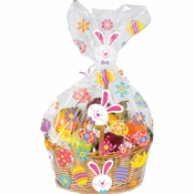 Easter Bunny and Eggs Cello Basket Bags 12 ct