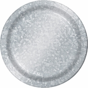 Galvanized Dinner Plates 96 ct