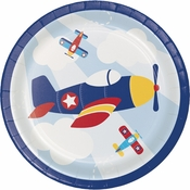 Toy Airplane Dessert Plates 96 ct