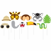 Jungle Animal Photo Booth Props 60 ct