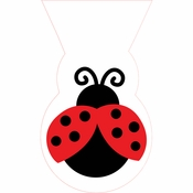 Red and black Ladybug Fancy Cello Bags sold in quantities of 12 / pkg, 12 pkgs / case