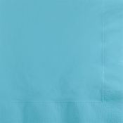 Touch of Color Pastel Blue 2 ply Beverage Napkins in quantities of 50 / pkg, 12 pkg / case