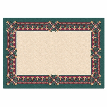 """Green Regency 9.75"""" x 14"""" Placemat in quantities of 1,000 / case"""
