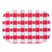 "Red Gingham 9.75"" x 14"" Decorator Placemat in quantities of 1000 / case"