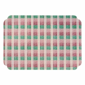 "Pink and Green Classic Weave 9.75"" x 14"" Placemat in quantities of 1000 / case"