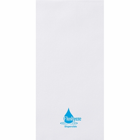 Linen-Like Flusheeze White Guest Towels 500 ct.