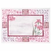"Maroon Floral 10"" x 14"" Placemat in quantities of 1000 / case"