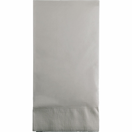 Touch of Color Shimmering Silver 3 Ply Guest Towels in quantities of 16 / pkg, 12 pkgs / case