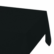 "Black Plastic Tablecloths measures 54"" x 108"" sold in quantities of 1 / pkg, 12 pkgs / case"