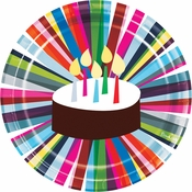 Birthday Cake by French Dinner Plates 120 ct