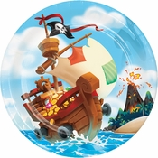 Treasure Island Pirate Dinner Plates 96 ct