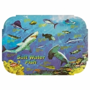 "Blue Salt Water Fish Dollar-wise 9.75"" x 14 Placemat in quantities of 1,000 / case"
