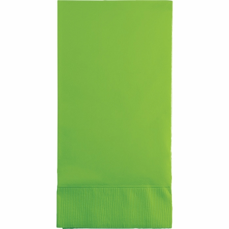 Touch of Color Fresh Lime 3 Ply Guest Towels 192 ct in quantities of 16 / pkg, 12 pkgs / case