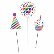 Rainbow Foil DIY Centerpieces Sticks 36 ct