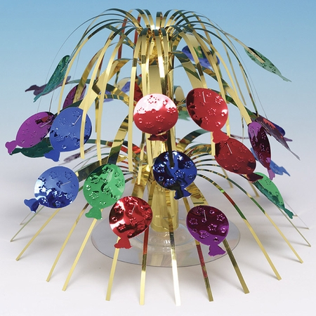Multicolor Foil Cascading Centerpieces 6 ct