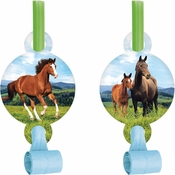 Wild Horse Party Blowers 48 ct