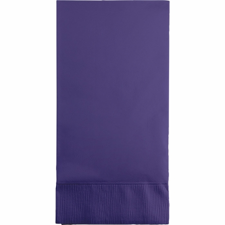 Touch of Color Purple 3-Ply Guest Towels in quantities of 16 / pkg, 12 pkgs / case