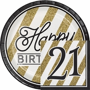 Black and Gold 21st Birthday Party Supplies