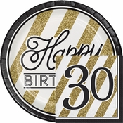 Black and Gold 30th Birthday Party Supplies