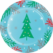 Holiday Whimsy Christmas Tree Dessert Plates 96 ct