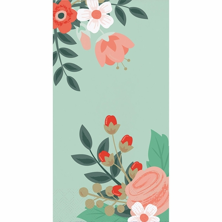Modern Floral Guest Towels 192 ct
