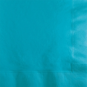 Touch of Color Bermuda Blue 2 ply Beverage Napkins 600 ct in quantities of 50 / pkg, 12 pkgs / case