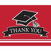 Graduation School Spirit Red Thank You Notes 75 ct