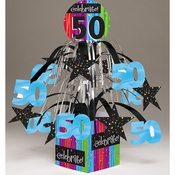 Milestone Celebrations 50th Birthday Centerpieces 6 ct