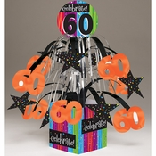 Milestone Celebrations 60th Birthday Centerpieces 6 ct