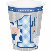 Farmhouse 1st Birthday Boy Cups 96 ct
