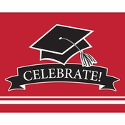 Graduation School Spirit Red Invitations 75 ct