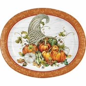 Bountiful Cornucopia Oval Plates 96 ct